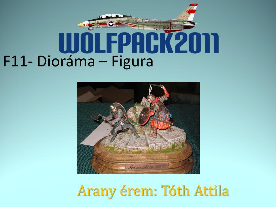 F11- Dioráma – Figura Arany érem: Tóth Attila