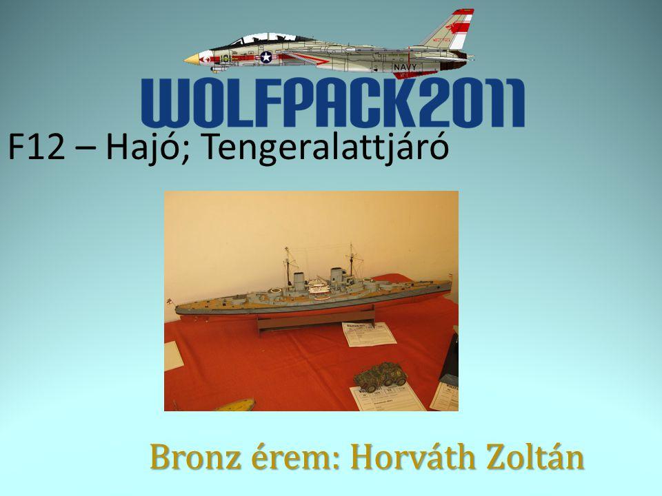 F12 – Hajó; Tengeralattjáró Bronz érem: Horváth Zoltán