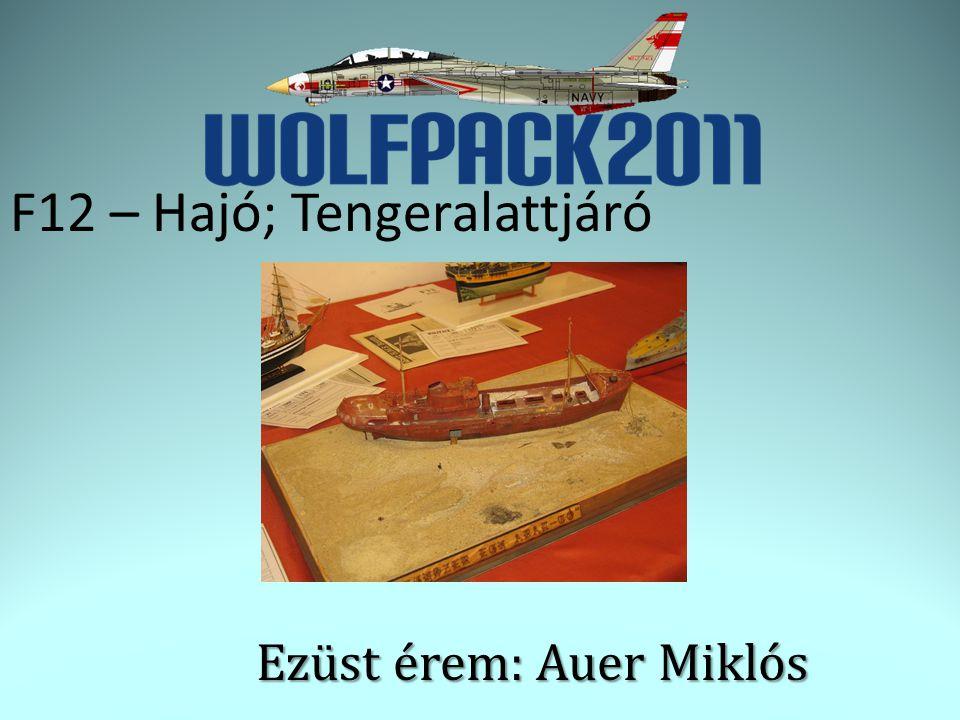F12 – Hajó; Tengeralattjáró Ezüst érem: Auer Miklós
