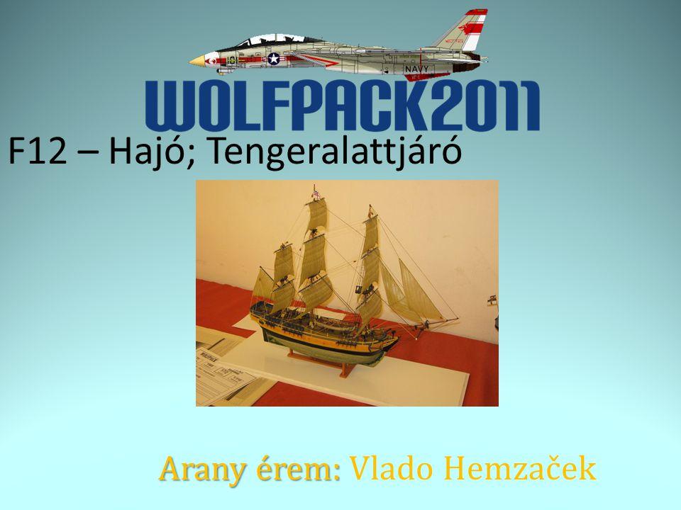 F12 – Hajó; Tengeralattjáró Arany érem: Arany érem: Vlado Hemzaček