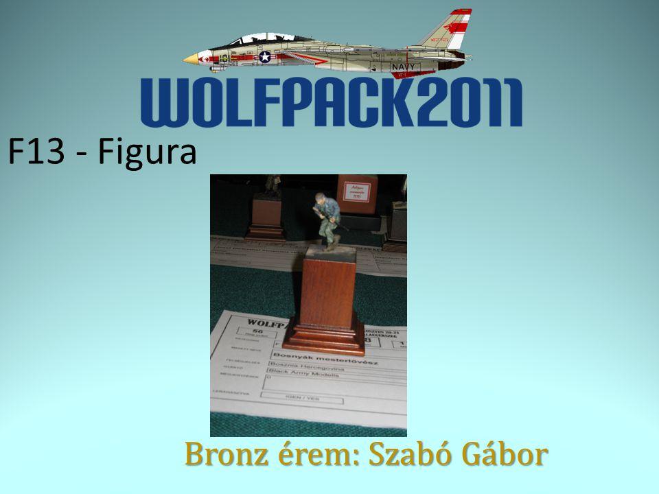 F13 - Figura Bronz érem: Szabó Gábor