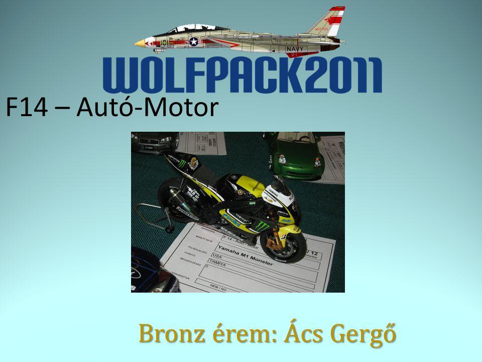 F14 – Autó-Motor Bronz érem: Ács Gergő