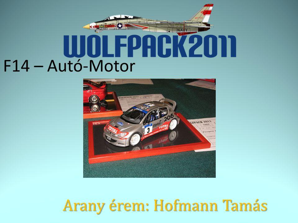F14 – Autó-Motor Arany érem: Hofmann Tamás