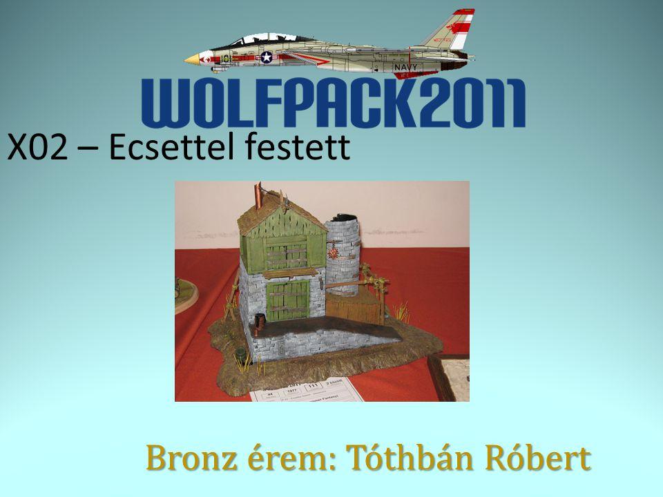 X02 – Ecsettel festett Bronz érem: Tóthbán Róbert