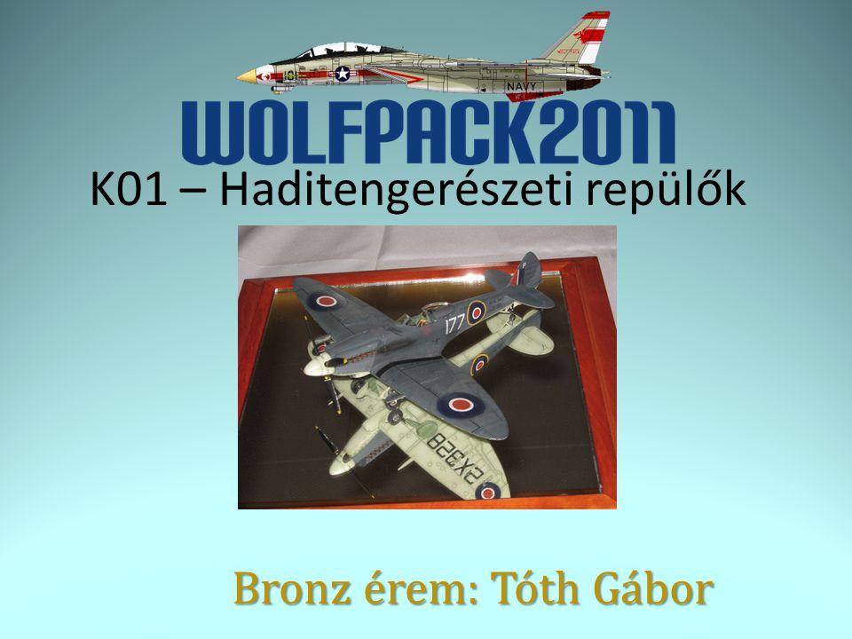 K01 – Haditengerészeti repülők Bronz érem: Tóth Gábor