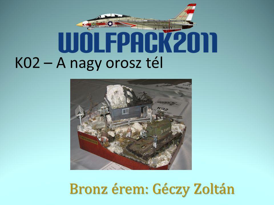 K02 – A nagy orosz tél Bronz érem: Géczy Zoltán