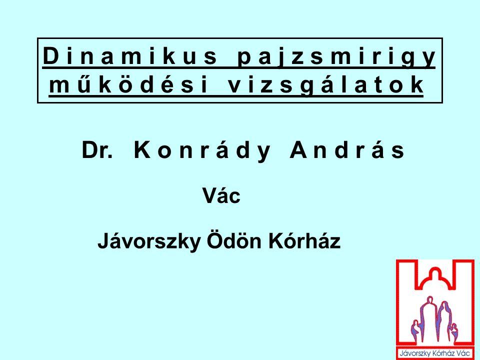 Dr. K o n r á d y A n d r á s Vác Jávorszky Ödön Kórház D i n a m i k u s p a j z s m i r i g y m ű k ö d é s i v i z s g á l a t o k
