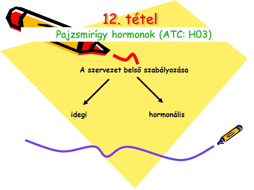 12. tétel Pajzsmirígy hormonok (ATC: H03) A szervezet belső szabályozása idegihormonális