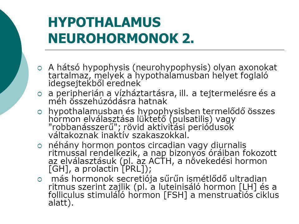 Acromegalia  Hypophysis GH termelő adenomája epifízis fugák záródása után, mely a csontok disztális végének, a lapos csontok, a kötőszövet és a viszcerális szervek növekedéséhez vezet  arcvonások eldurvulnak, kéz- láb méret növekedik,túlzott izzadásjelentkezik gyakoriak az ízületi panaszok  csökkent glükóztolerancia alakulhat ki