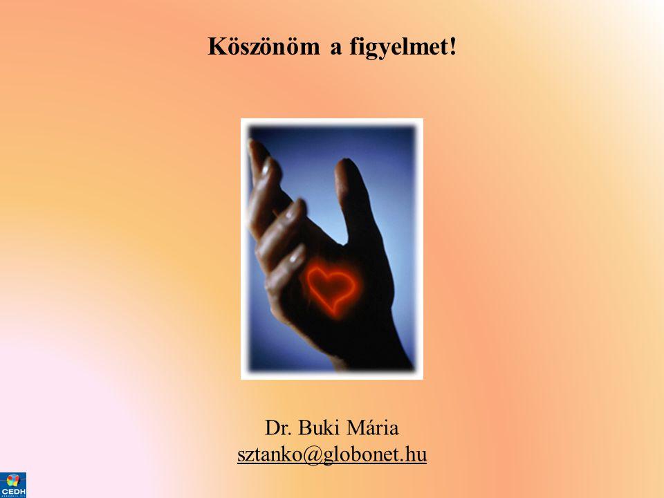 Köszönöm a figyelmet! Dr. Buki Mária sztanko@globonet.hu