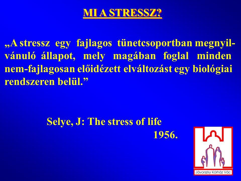 KIVÁLT-E A STRESSZ HYPERTHYREOSIST? KIVÁLT-E A STRESSZ HYPERTHYREOSIST? dr. Konrády András Jávorszky Ödön Kórház VÁC