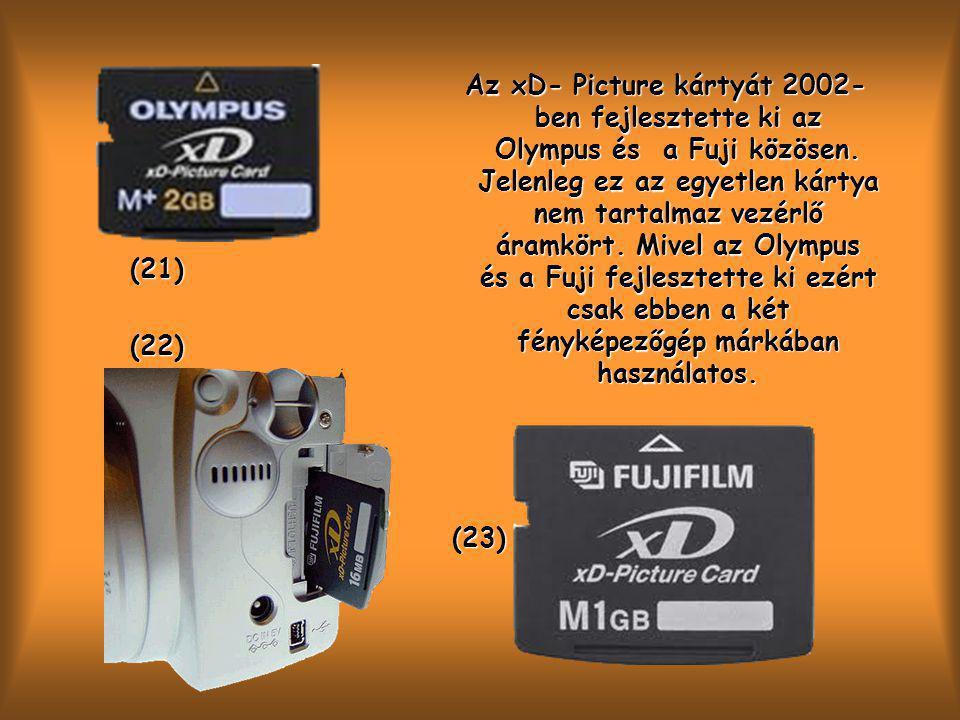 Az xD- Picture kártyát 2002- ben fejlesztette ki az Olympus és a Fuji közösen.
