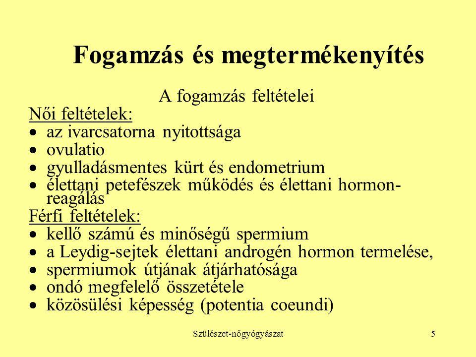 Szülészet-nőgyógyászat6 Fogamzás és megtermékenyítés (I.) Az ovulatio jelei  az un.