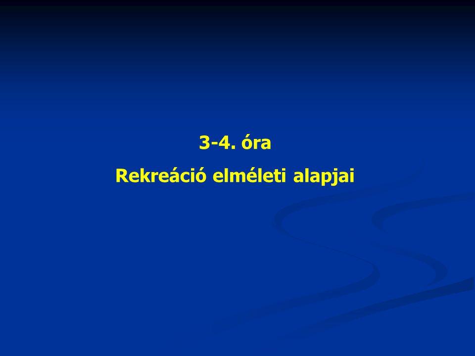 3-4. óra Rekreáció elméleti alapjai