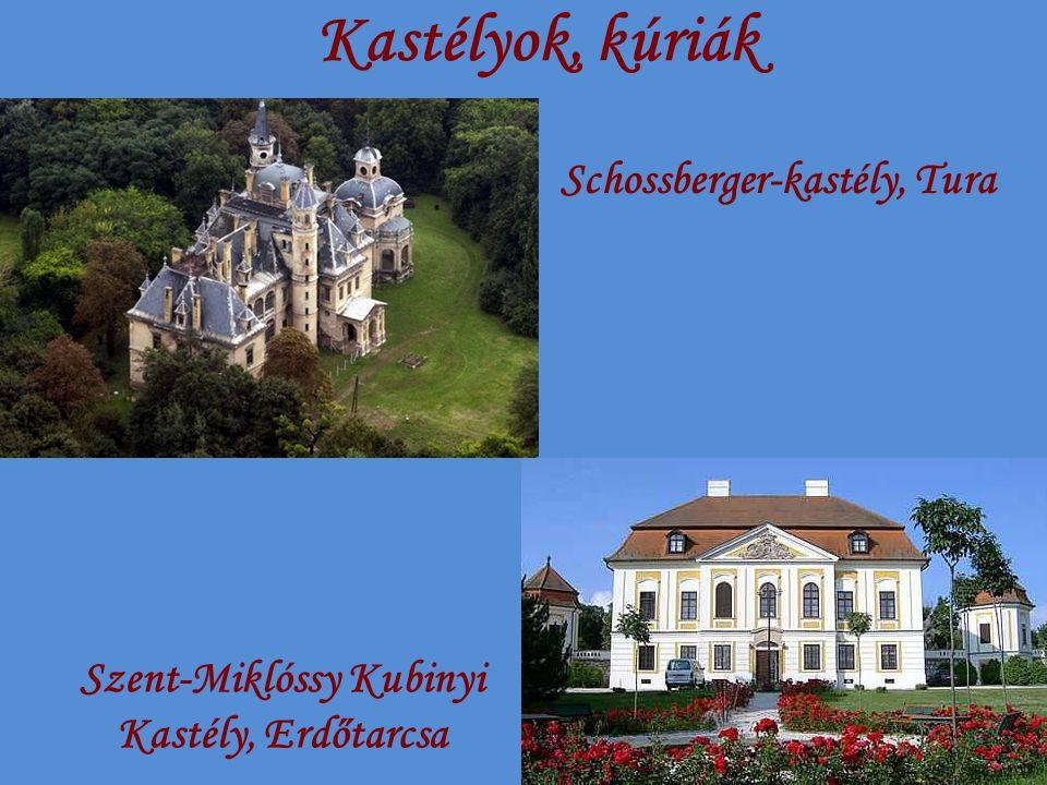 Kastélyok, kúriák Schossberger-kastély, Tura Szent-Miklóssy Kubinyi Kastély, Erdőtarcsa