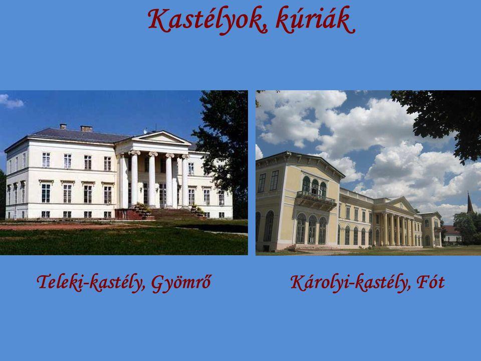 Kastélyok, kúriák Teleki-kastély, GyömrőKárolyi-kastély, Fót