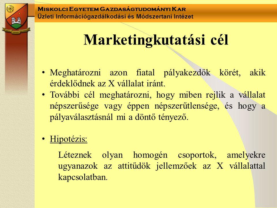 Miskolci Egyetem Gazdaságtudományi Kar Üzleti Információgazdálkodási és Módszertani Intézet 4-5.