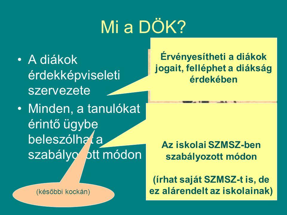 Példák: (3) •Iskolai működés rendje, pl.