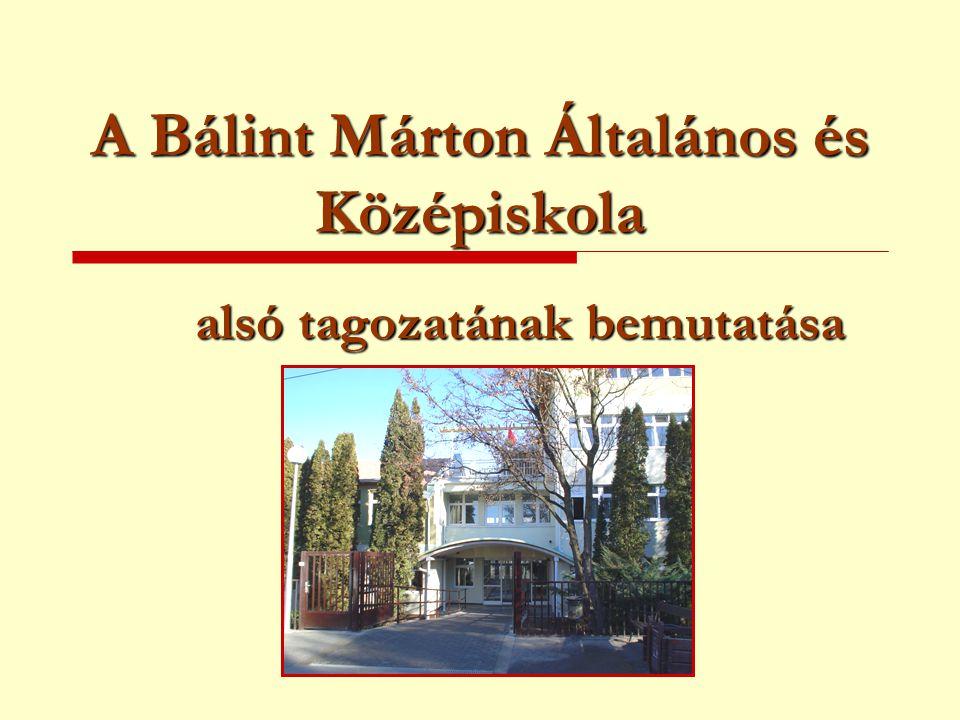 A Bálint Márton Általános és Középiskola alsó tagozatának bemutatása