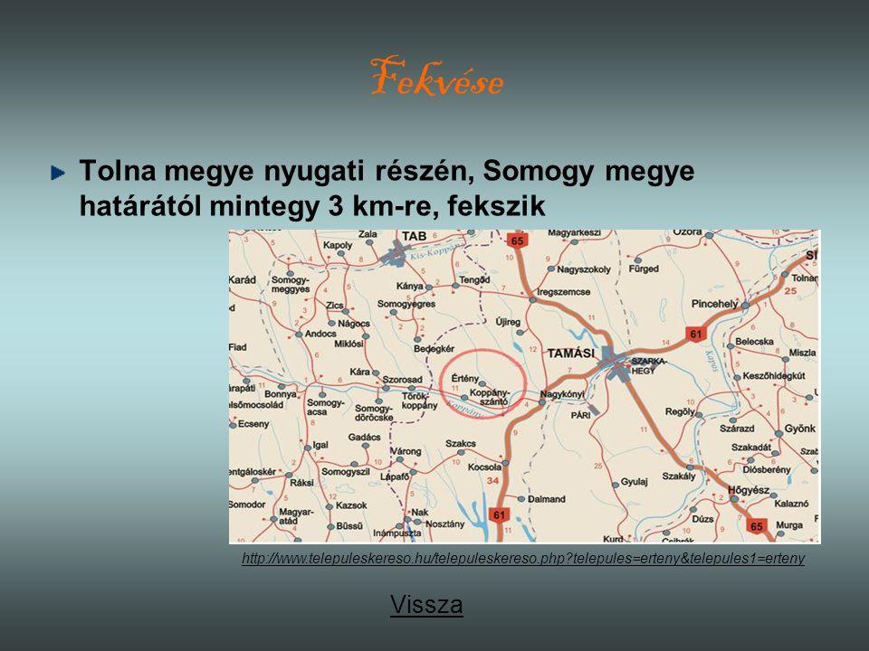 Fekvése Tolna megye nyugati részén, Somogy megye határától mintegy 3 km-re, fekszik Vissza http://www.telepuleskereso.hu/telepuleskereso.php?telepules