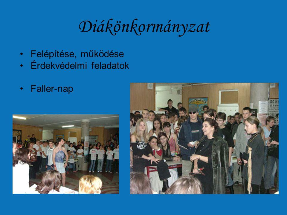 Diákönkormányzat •Felépítése, működése •Érdekvédelmi feladatok •Faller-nap