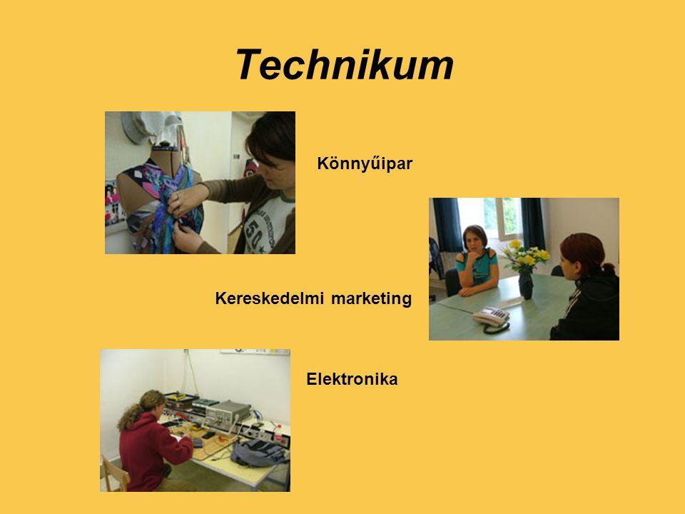 Technikum Könnyűipar Kereskedelmi marketing Elektronika