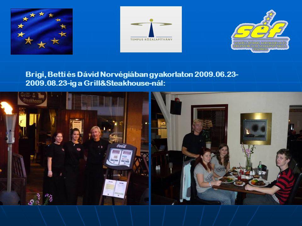 Brigi, Betti és Dávid Norvégiában gyakorlaton 2009.06.23- 2009.08.23-ig a Grill&Steakhouse-nál: