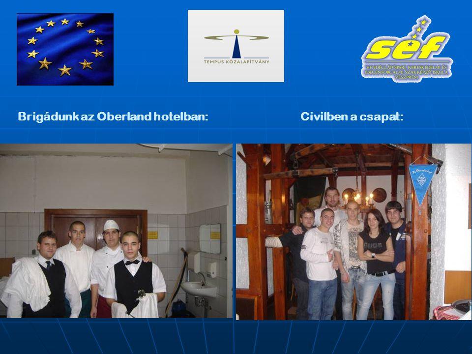 Brigádunk az Oberland hotelban:Civilben a csapat: