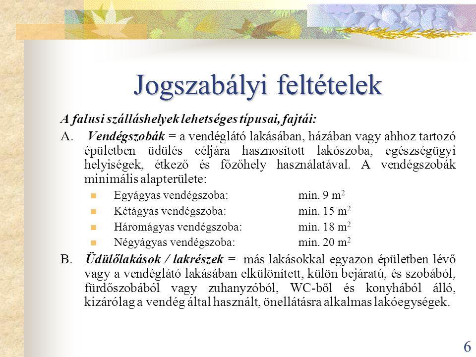 17 Falusi Turizmus Borsod-Abaúj-Zemplén Megyei Egyesülete  Megalakulás: 1997 szeptember  52 alapító tag  Tagok száma ma: 260  Magánszemélyek és önkormányzatok is  1999 óta közhasznú szervezet