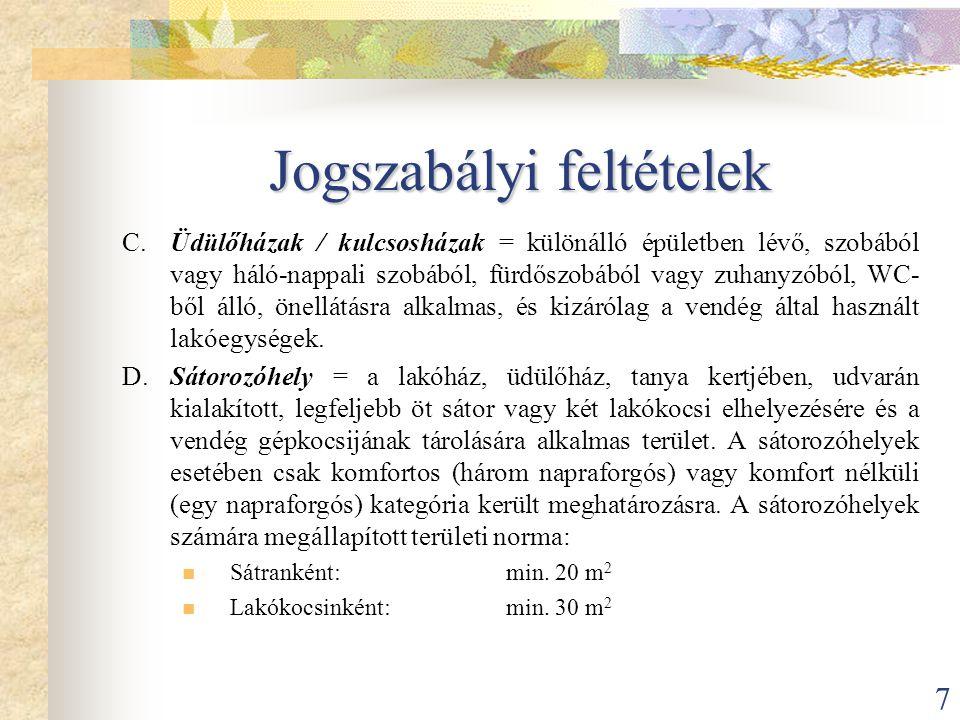 8 Jogszabályi feltételek 54/2003.