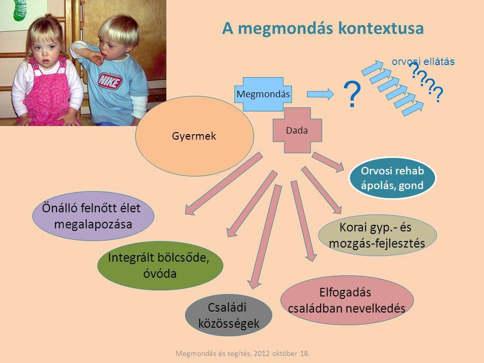 Megmondás és segítés, 2012 október 18.Gyermek Dada Megmondás Orvosi rehab ápolás, gond .