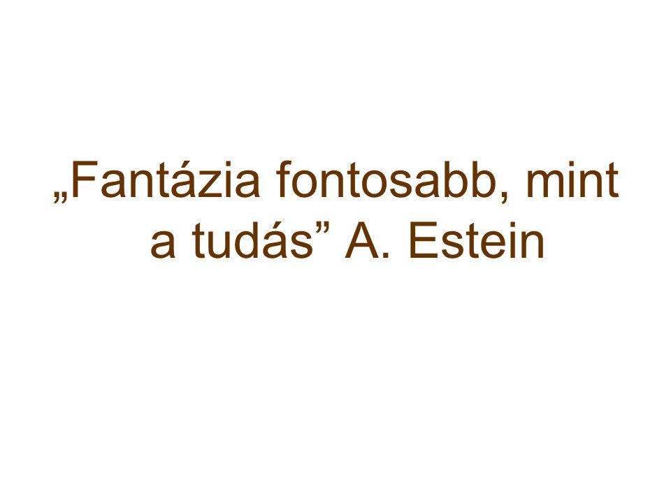 """""""Fantázia fontosabb, mint a tudás A. Estein"""