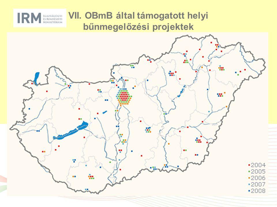 VII. OBmB által támogatott helyi bűnmegelőzési projektek