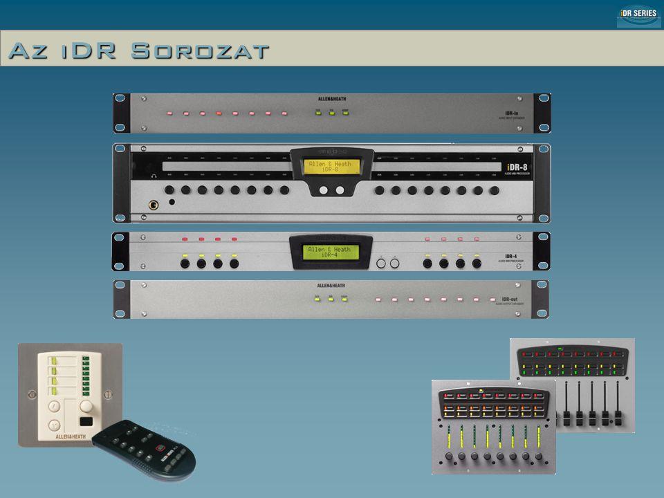 iDR-4 El ő lap levéve (Installer Mód) Menü gombok •Audió Monitor • Preset választás • Dátum és idő • Hálózat beállítás • Diagnosztika Code Update gomb
