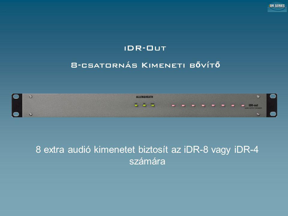 iDR-Out 8-csatornás Kimeneti b ő vít ő 8 extra audió kimenetet biztosít az iDR-8 vagy iDR-4 számára iDR-Out