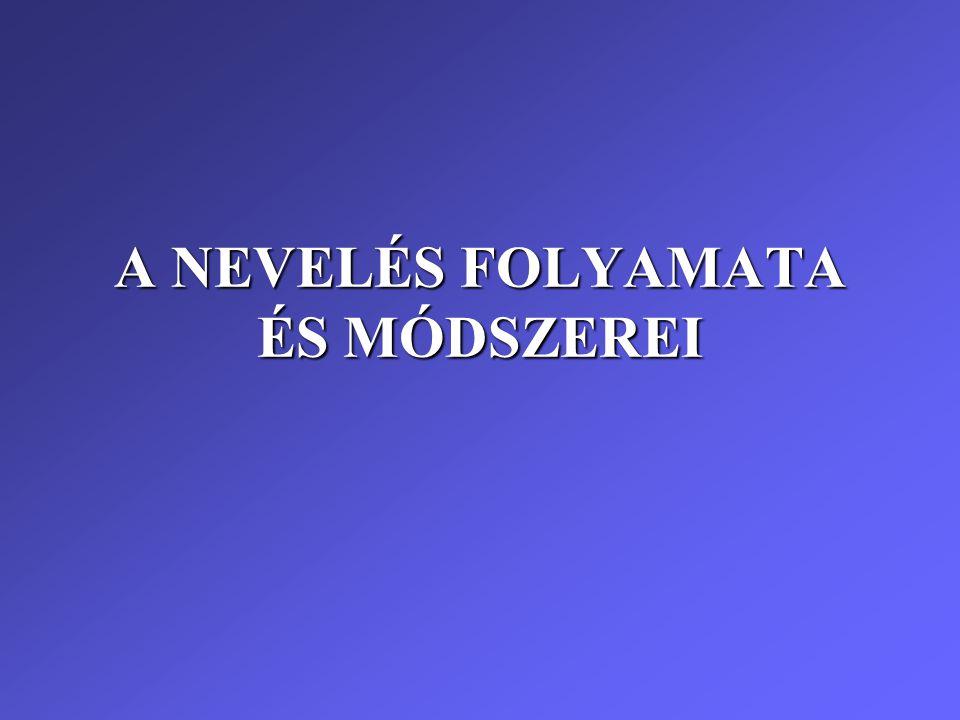 A NEVELÉS FOLYAMATA ÉS MÓDSZEREI