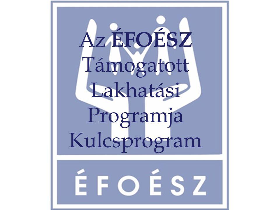 Az ÉFOÉSZ Támogatott Lakhatási Programja Kulcsprogram