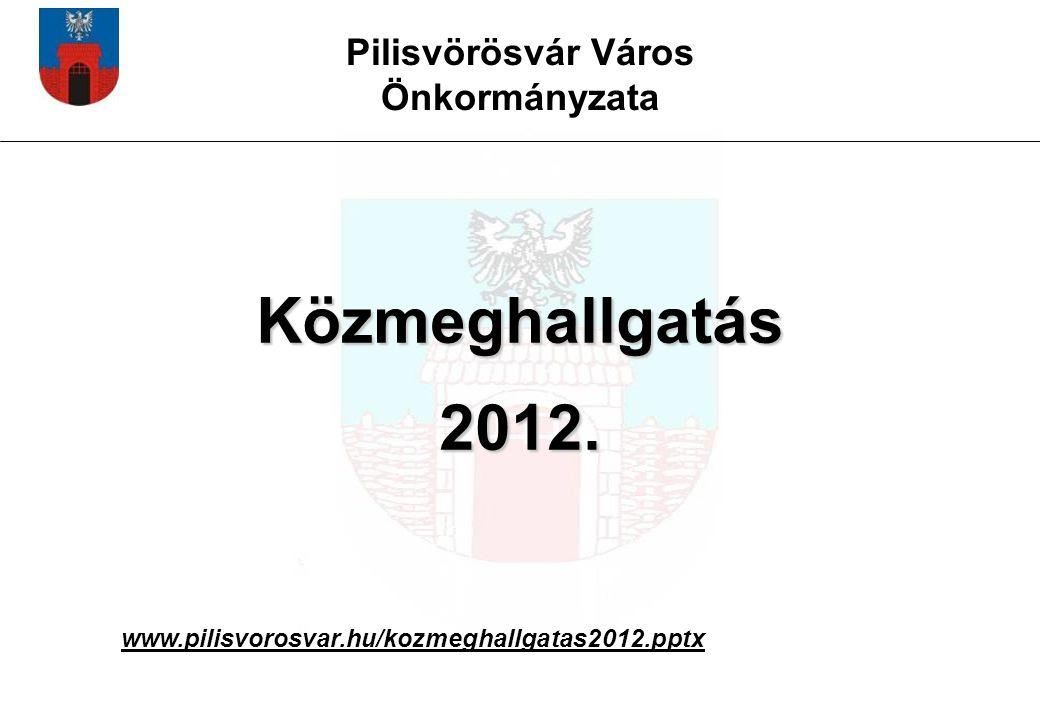 Pilisvörösvár Város Önkormányzata Közmeghallgatás 2012. www.pilisvorosvar.hu/kozmeghallgatas2012.pptx