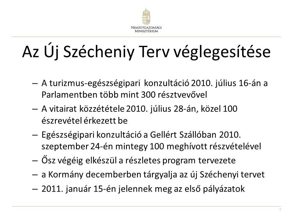 7 Az Új Szécheniy Terv véglegesítése – A turizmus-egészségipari konzultáció 2010.