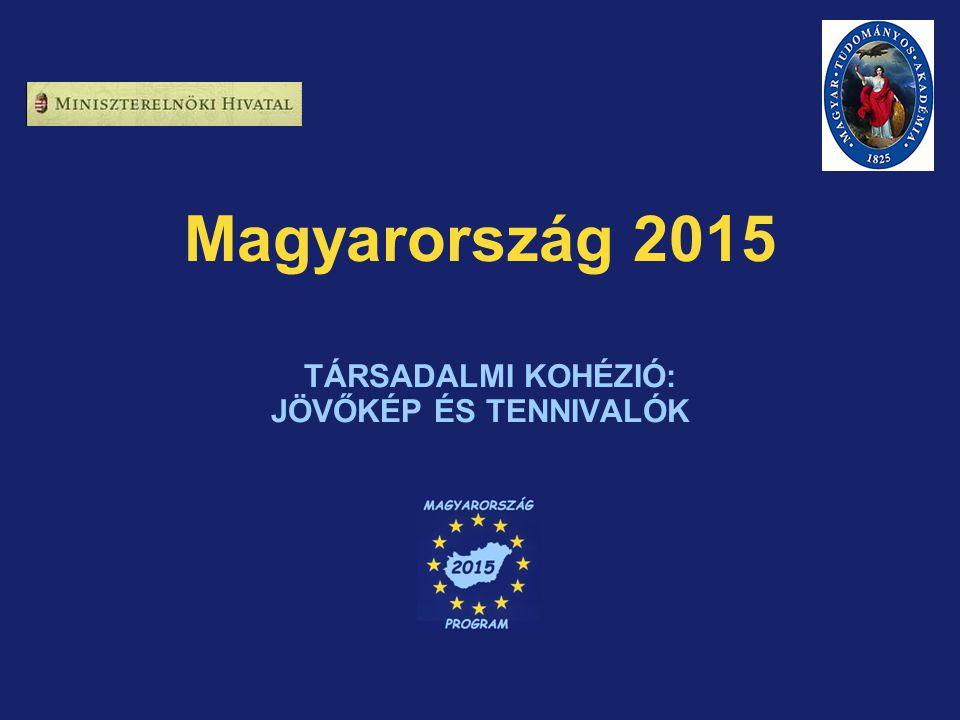 Magyarország 2015 TÁRSADALMI KOHÉZIÓ: JÖVŐKÉP ÉS TENNIVALÓK