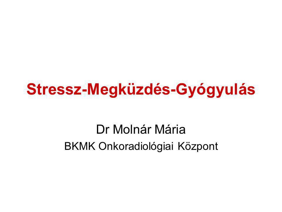 Stressz-Megküzdés-Gyógyulás Dr Molnár Mária BKMK Onkoradiológiai Központ