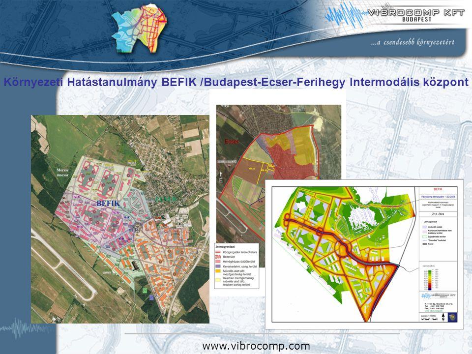 Környezeti Hatástanulmány BEFIK /Budapest-Ecser-Ferihegy Intermodális központ www.vibrocomp.com