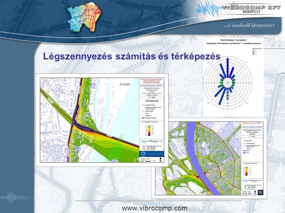 Légszennyezés számítás és térképezés a