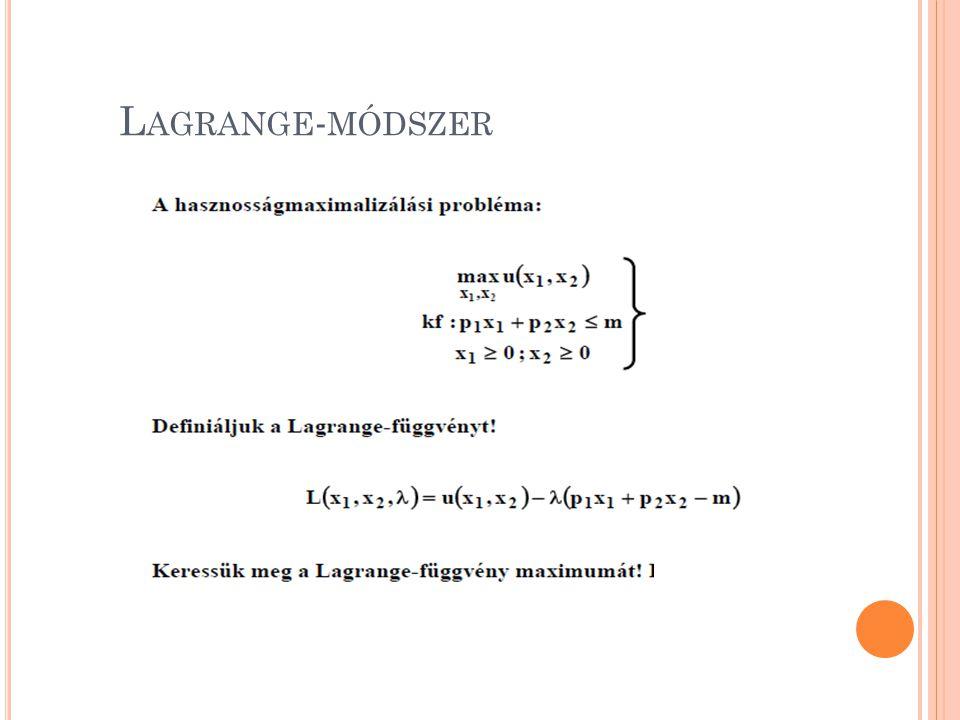 L AGRANGE - MÓDSZER