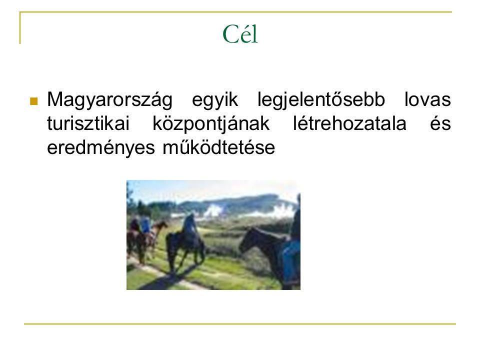 Cél  Magyarország egyik legjelentősebb lovas turisztikai központjának létrehozatala és eredményes működtetése