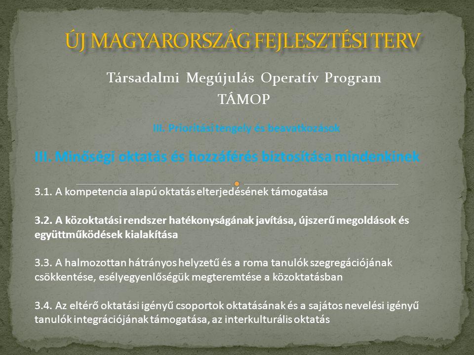 Társadalmi Megújulás Operatív Program TÁMOP III.
