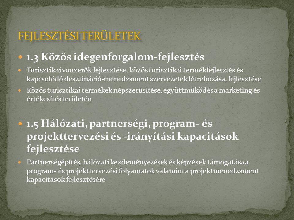  1.6 Emberi erőforrások közös használata és fejlesztése  Közös képzési és oktatási módszerek és programok kidolgozása.