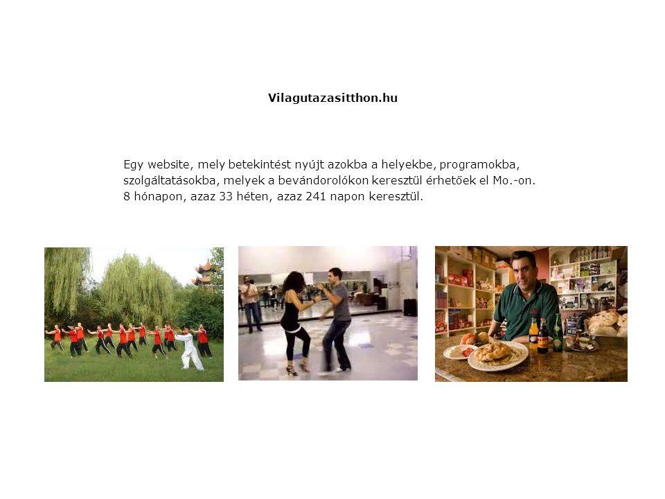 Vilagutazasitthon.hu Egy website, mely betekintést nyújt azokba a helyekbe, programokba, szolgáltatásokba, melyek a bevándorolókon keresztül érhetőek