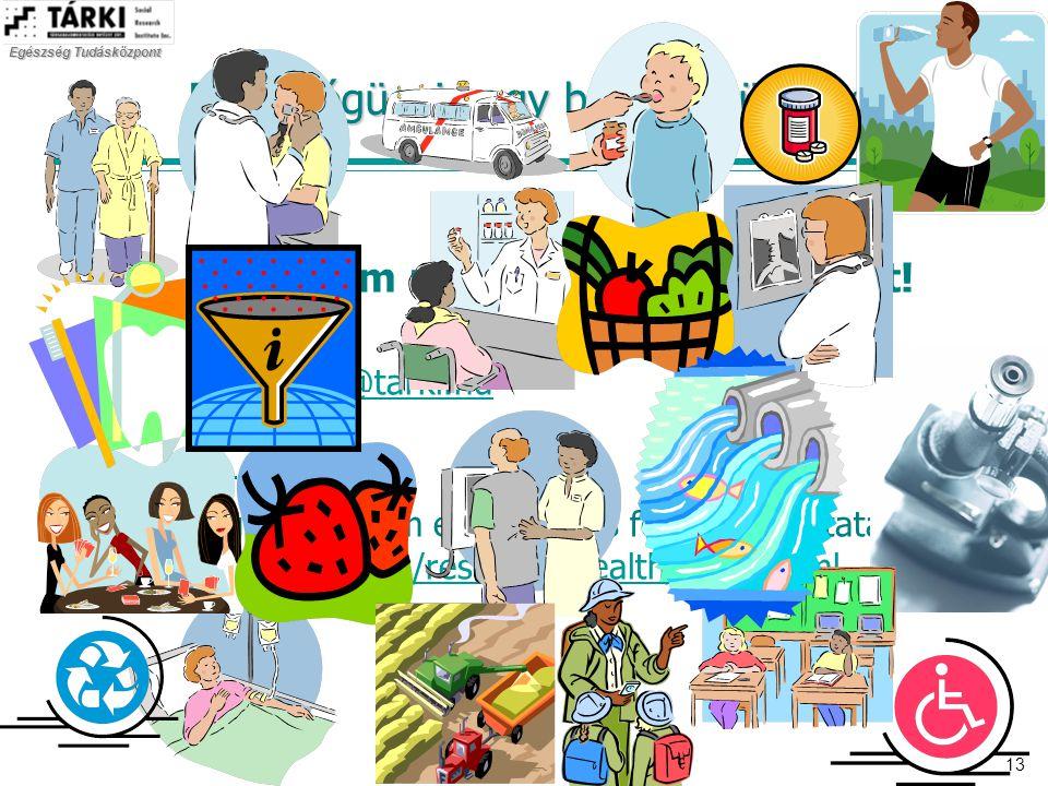 Egészség Tudásközpont 13 Egészségügyi vagy betegségügyi reform? Köszönöm megtisztelő figyelmüket! Elérhetőség: vitrai@tarki.huvitrai@tarki.hu További