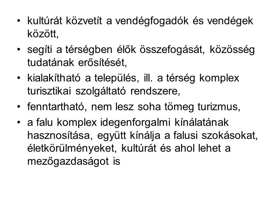 Falusi és agroturisztikai szolgáltató tevékenység jogszabályi háttere A 136/2007.